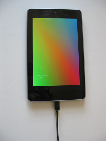 Nexus7でスクリーンセーバーのカラー選択