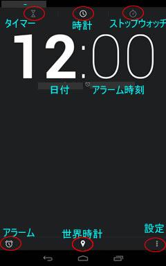 Nexus7時計画面