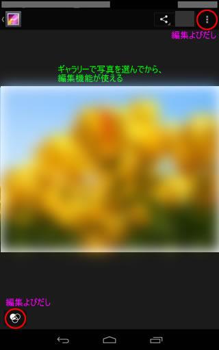 Nexus7画像編集設定