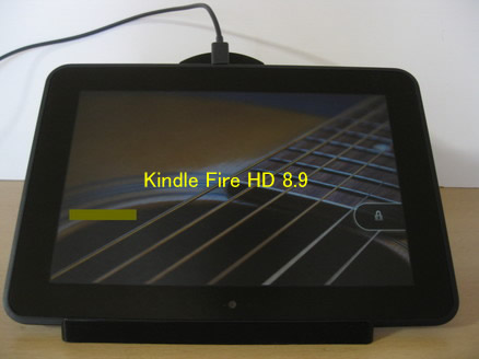 Kindle Fire HD 8.9マイクロUSB充電中