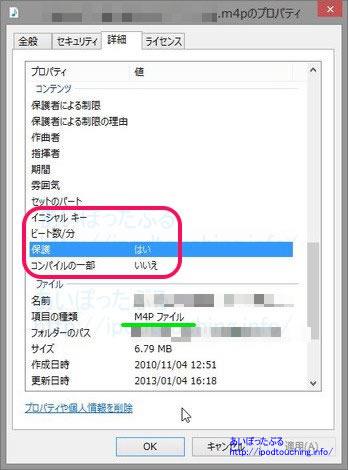 デジタル著作権DRM)で保護された曲M4Pファイル