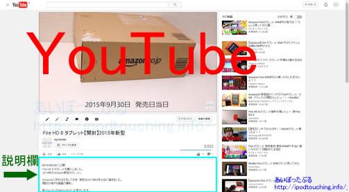 Youtubeをパソコンで見た画面