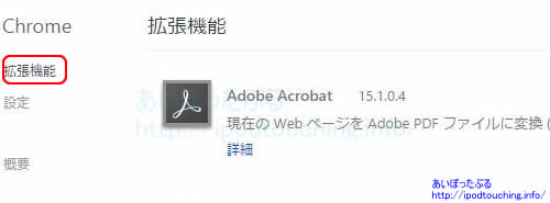 Adobe Acrobat、Chrome拡張機能