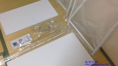 アイリスオーヤマ パソコンデスク ホワイト PDN-7038内容物