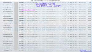 Gmail迷惑メール「TV CAS カード」が大量に届く