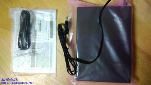 外付けハードディスク HDJA-SUT2.0内容物