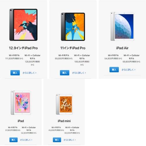 iPad 五端末