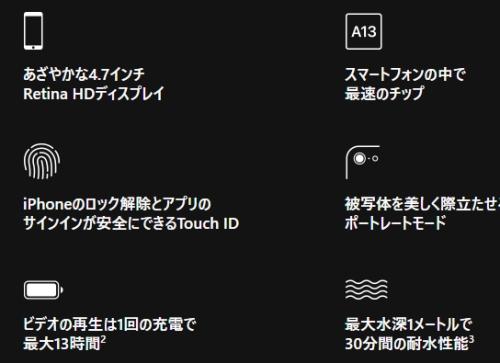 新型 iPhone SE(第二世代)特徴