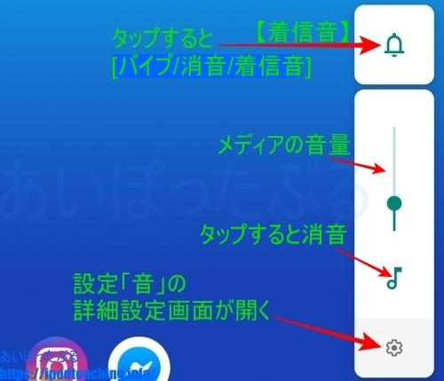 Android 9 音量スライドバー