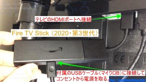 テレビHDMIポートに接続・Fire TV Stick (2020・第3世代) セットアップ