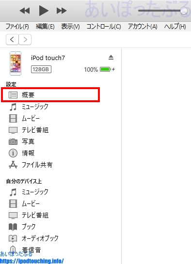 「概要」(iTunes)